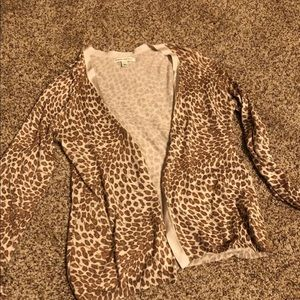 Banana Republic animal print cardigan